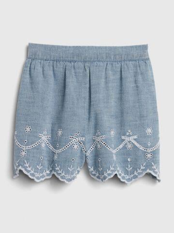 מכנסיים קצרים עם עיטורי רקמה/ בייבי בנות