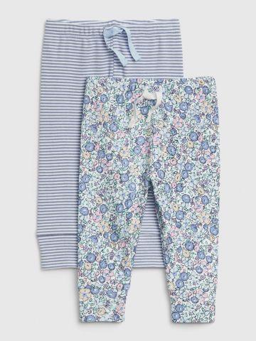 מארז 2 מכנסיים ארוכים בהדפסים / 0-24M
