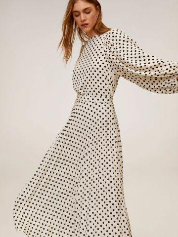 חצאית מידי מתרחבת בהדפס נקודות