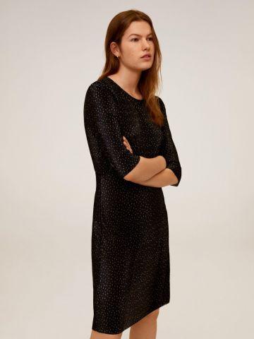 שמלת מיני פליסה בהדפס נקודות של MANGO