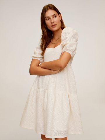 שמלת מיני קומות בהדפס מנומר