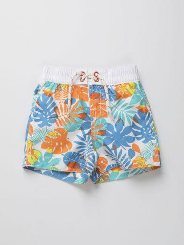 מכנסי בגד ים בהדפס טרופי / 12M-5Y