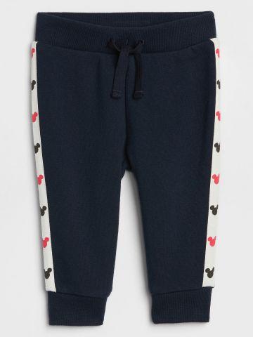 מכנסי טרנינג עם פאנלים מיקי מאוס/ בייבי בנים