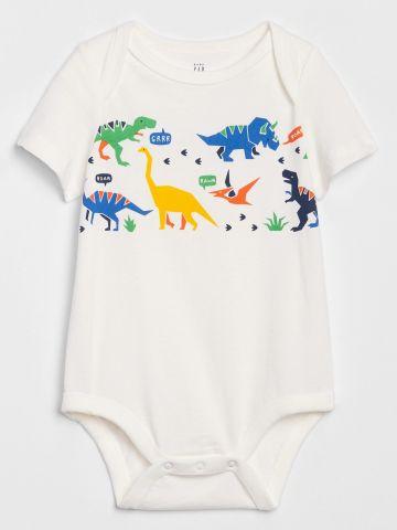 בגד גוף בהדפס דינוזאורים/ בייבי בנים