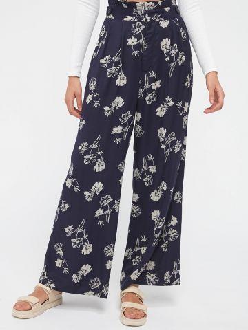 מכנסי פייפרבאג בהדפס פרחים UO