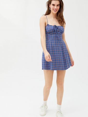 שמלת מיני בהדפס משבצותUO