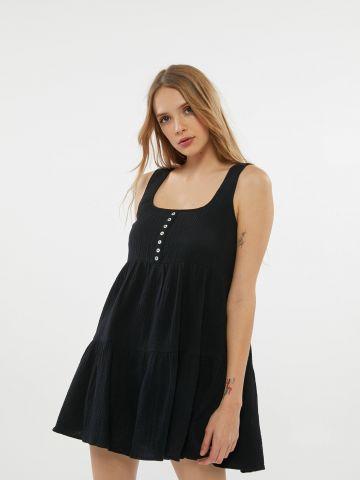 שמלת מיני קרפ קומות UO