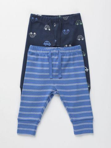 מארז 2 מכנסיים ארוכים בהדפס 0-12M