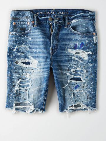 ג'ינס ברמודה עם קרעים / גברים