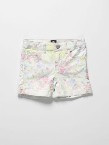 ג'ינס קצר בהדפס טאי דאי / בנות