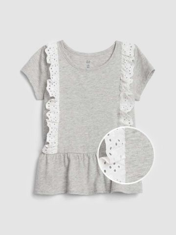חולצת פפלום בשילוב מלמלה  / 12M-5Y