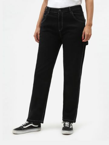 ג'ינס בויפרינד בשטיפה כהה של DICKIES