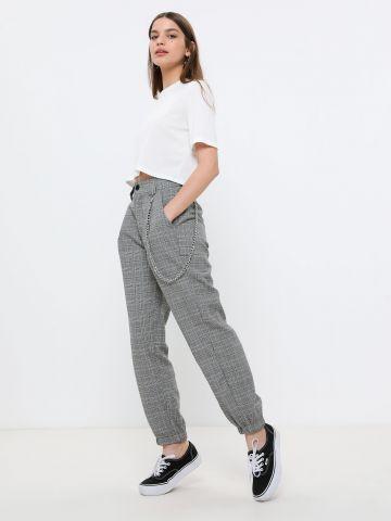 מכנסיים ארוכים בדוגמת משבצות פפיטה