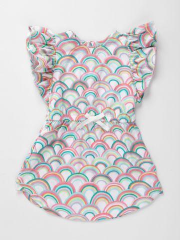 שמלה בהדפס ריינבו עם מלמלה / 12M-5Y של GAP
