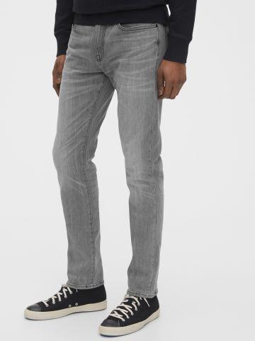 ג'ינס סלים עם הבהרות Slim