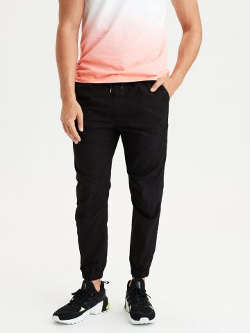 מכנסיים ארוכים עם גומי וכיסים