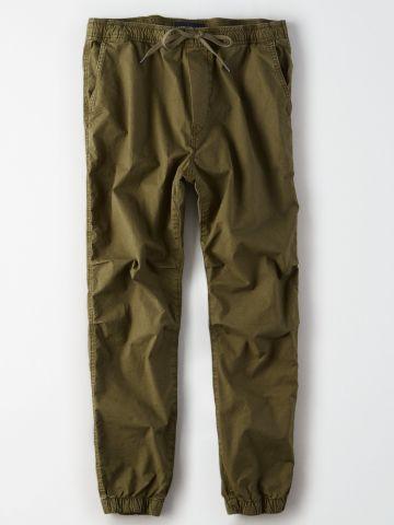 מכנסיים ארוכים עם גומי וכיסים / גברים