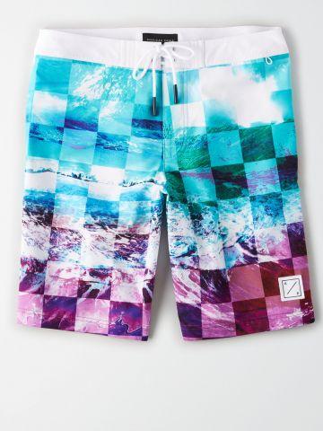 מכנסי בגד ים בהדפס אוקיינוס / גברים