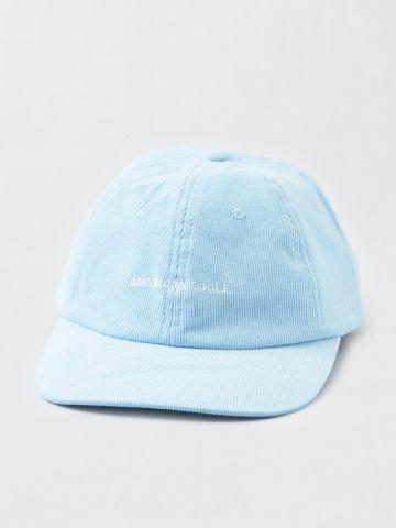 כובע מצחייה קורדרוי עם לוגו / גברים