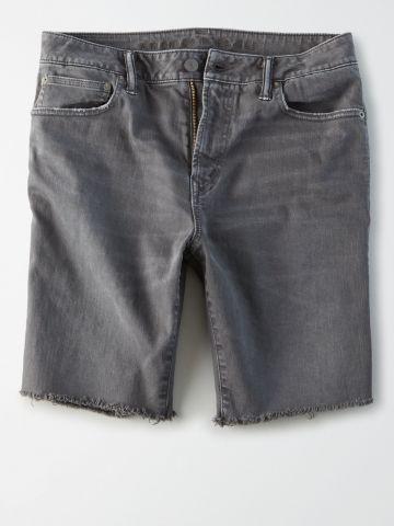 ג'ינס ברמודה ווש עם פרנזים / גברים