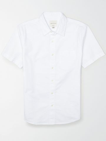חולצה קצרה מכופתרת עם כיס / גברים