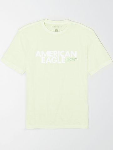 טי שירט עם הדפס לוגו / גברים של AMERICAN EAGLE