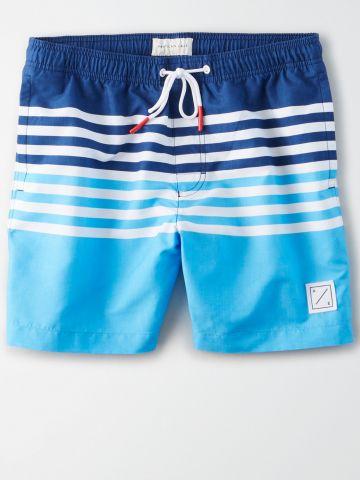 מכנסי בגד ים שני צבעים עם פסים / גברים