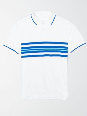 חולצת פולו עם לוגו ופסים / גברים
