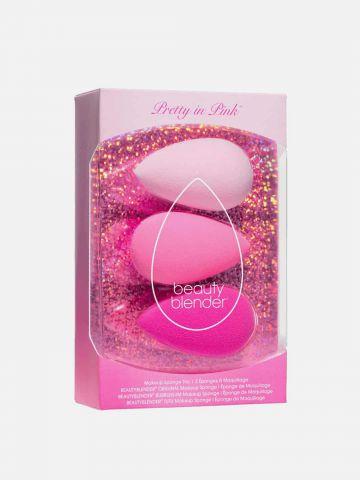 מארז שלישיית ספוגיות Pretty in Pink של BEAUTYBLENDER