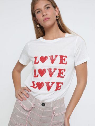 טי שירט עם הדפס Love