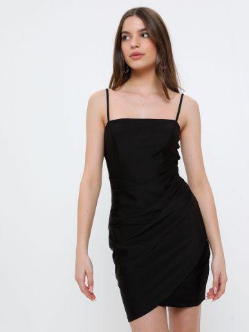 שמלת מיני לייקרה בגימור מבריק