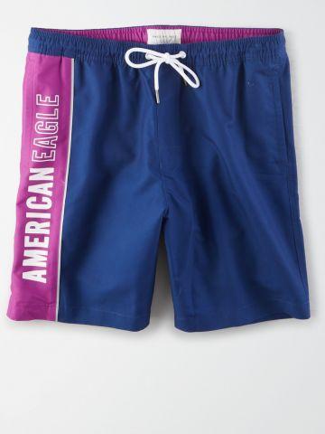 מכנסי בגד ים עם לוגו / גברים