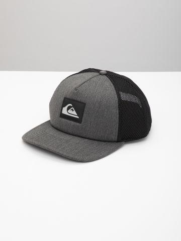 כובע מצחייה בשילוב רשת עם לוגו / גברים