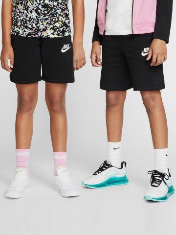 מכנסי טרנינג קצרים עם רקמת לוגו