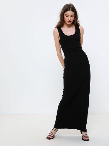 שמלת מקסי ריב בגזרה צמודה