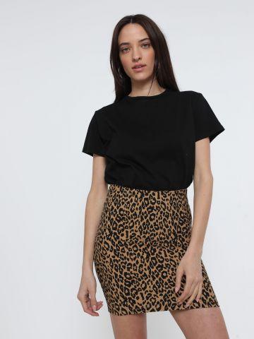 חצאית מיני בהדפס חברבורות של TERMINAL X
