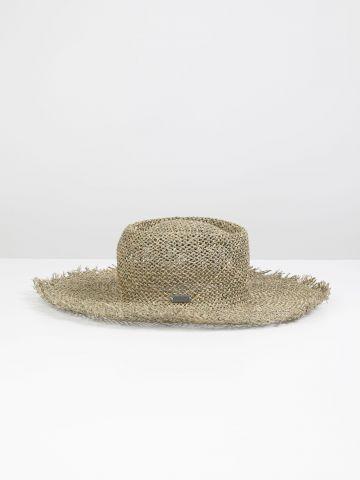 כובע קש רחב שוליים / נשים