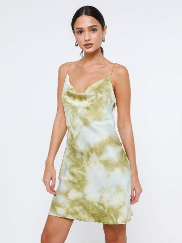 שמלת סאטן מיני טאי דאי
