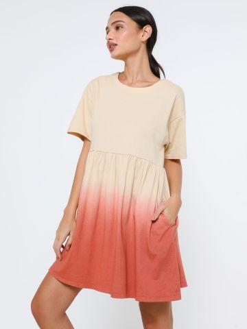 שמלת טי שירט מיני פפלום