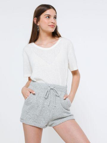 מכנסי סריג קצרים