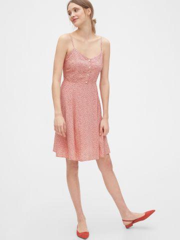 שמלת מיני מתרחבת בהדפס פרחים ובשילוב כפתורים של GAP