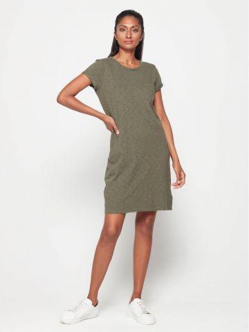 שמלת טי שירט מיני עם כיס