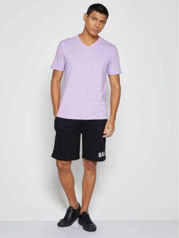 מכנסי פוטר קצרים עם רקמת לוגו של GAP