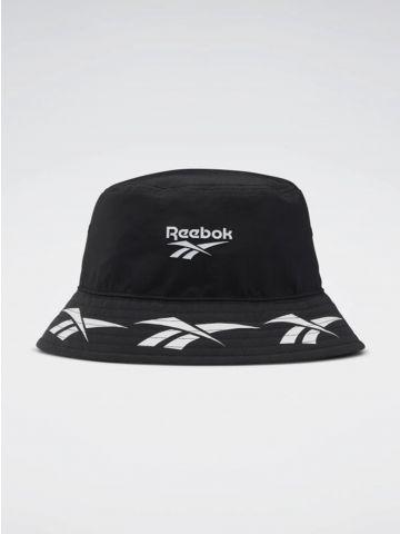 כובע באקט עם הדפס לוגו / גברים