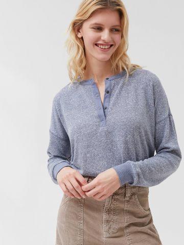 חולצת קרופ עם שרוולים ארוכים Out From Under