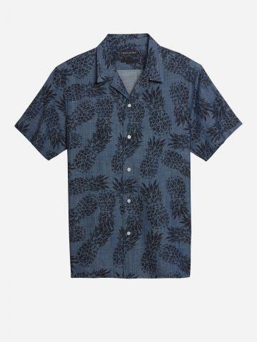 חולצה מכופתרת בהדפס אננסים / גברים של BANANA REPUBLIC