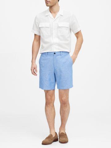 חולצת פשתן מכופתרת Slim של BANANA REPUBLIC