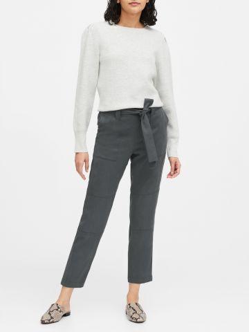 מכנסיים ארוכים עם חגורת קשירה של BANANA REPUBLIC