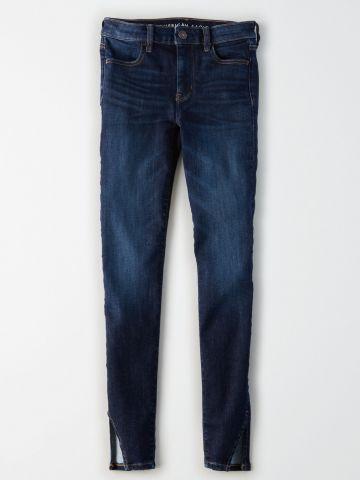 ג'ינס סקיני עם שסעים בסיומת Hi-Rise Jegging