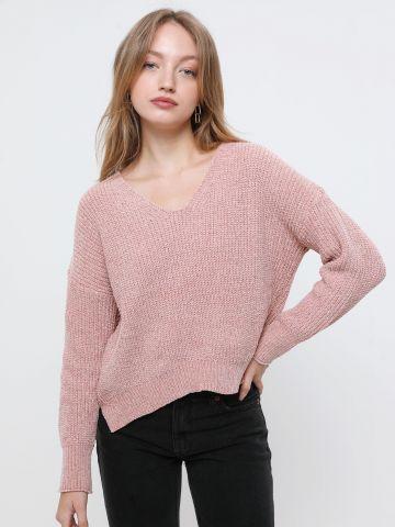 סוודר שניל עם חוט מטאלי